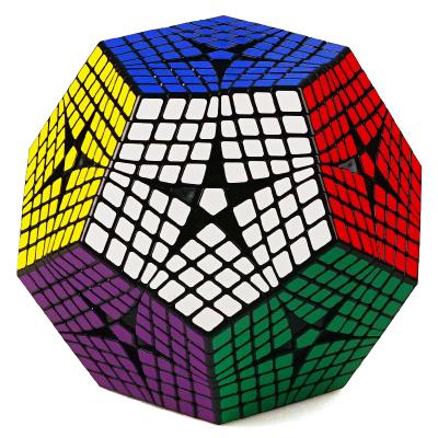 圣手7118A八阶五魔方 专业高难度异型8阶5魔方异形魔方 儿童小孩益智玩具减压顺滑魔方 黑色