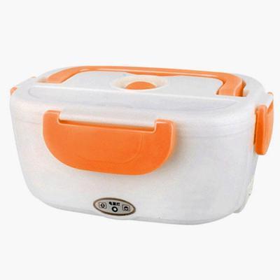 多功能电热饭盒黄金蛋车载家用一体电加热保温盒便捷迷你热饭 桔色不锈钢内胆家用