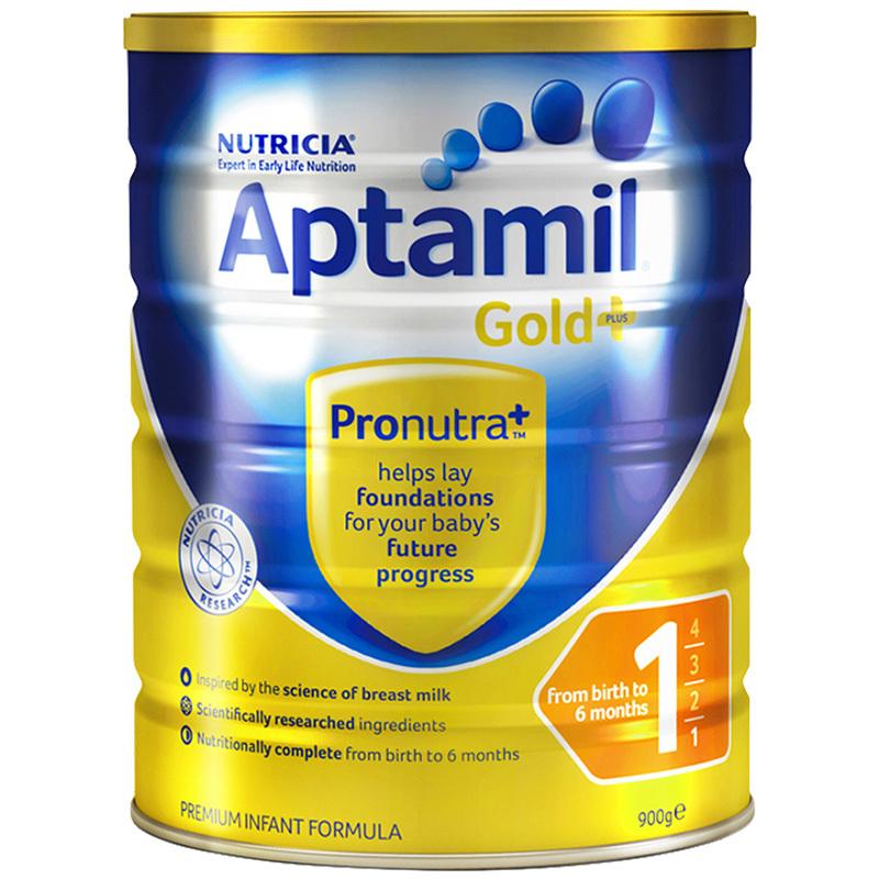 Aptamil 新西兰爱他美 金装 婴幼儿奶粉 1段 0-6个月900g *2件 300元含税包邮(合150元/件)