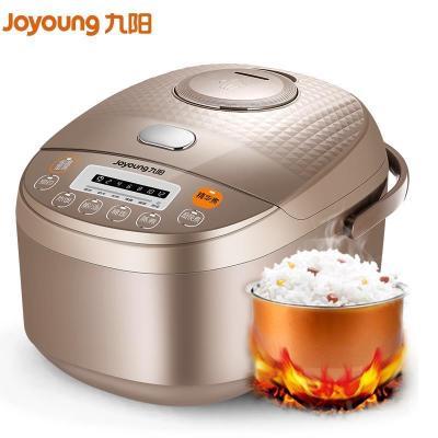 九阳(Joyoung)电饭煲 JYF-40FE65 咖啡色 4L升预约功能 可拆卸内盖 黄晶内胆 底盘加热电饭锅