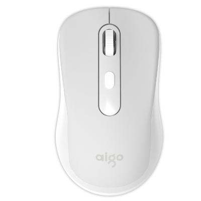 爱国者(AIGO) 2.4G无线鼠标静音无声可爱游戏办公家用小巧精致 M21 白色