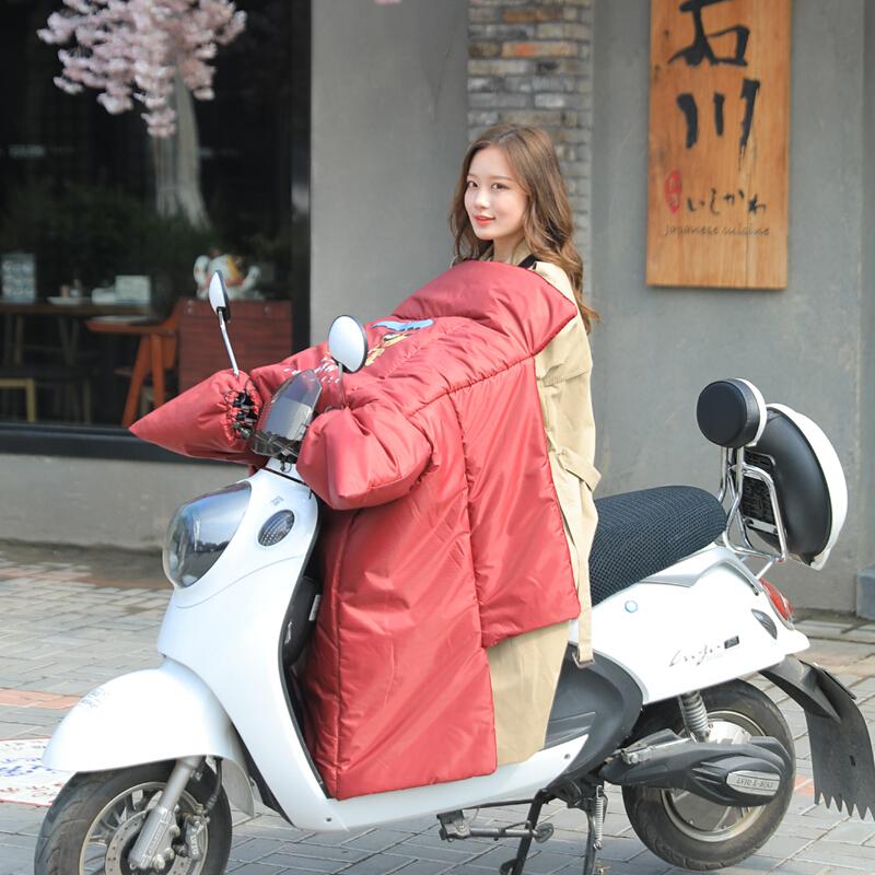 小嬛电动自行车摩托车挡风被保暖冬季电瓶车挡风罩防水保暖被冬季新款小嬛