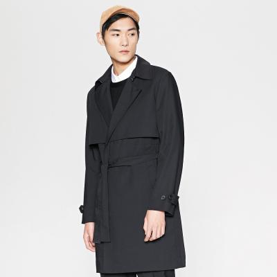 ME&CITY 530363 男系带中长款风衣外套 *2件 319.8元包邮(合159.9元/件)