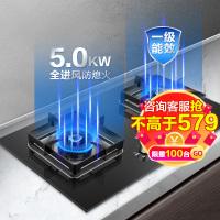 苏泊尔(SUPOR)JZT-P10燃气灶天然气煤气灶双灶台式嵌入式灶具大火力全进风钢化玻璃高能猛火(天然气)