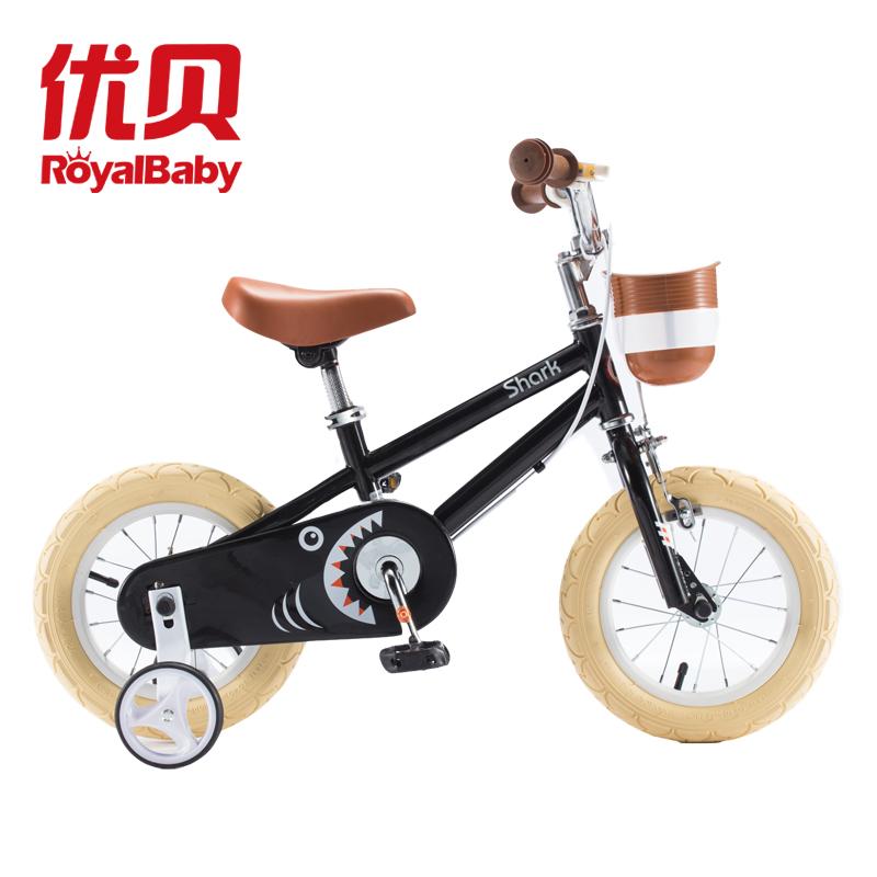RoyalBaby優貝 小白鯊 兒童自行車12-18寸
