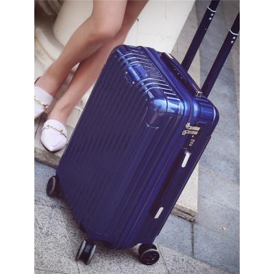 行李箱ins女网红箱子学生20旅行箱24寸拉杆箱男万向轮密码箱26寸 镜面黑色 28寸