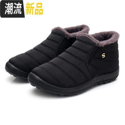 老北京布鞋女鞋老人棉鞋冬季加绒中老年妈妈鞋防滑加厚保暖雪地靴 广赫