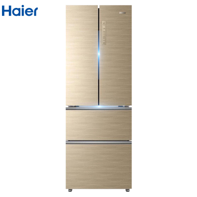 海尔(Haier)BCD-331WDGQ 331升法式多门冰箱 一级能效彩晶玻璃面板 风冷无霜 智能杀菌 变频家用电冰箱