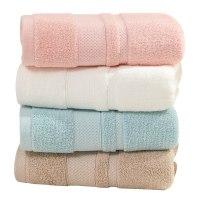 洁丽雅毛巾2条装 鲁道夫抑菌纯棉吸水成人男女情侣柔软家用加厚款