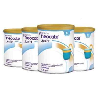 纽康特(Neocate)澳洲直邮 抗过敏腹泻拉稀湿疹氨基酸深度水解婴幼儿奶粉 400g 2段(1岁以上) 原味 4罐