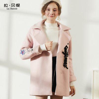 拉贝缇 60005690 羊毛呢大衣 79元