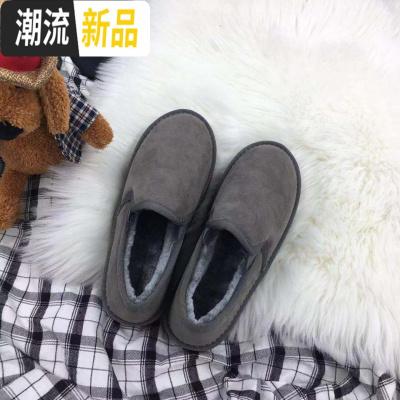 2019雪地靴女短筒韩版保暖平底短靴冬加绒百搭学生懒人情侣面包鞋 广赫