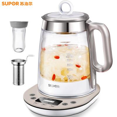苏泊尔(SUPOR)养生壶SW-15Y01加厚玻璃多功能电热烧水壶花茶壶家用煮茶器 1.5升/L容量