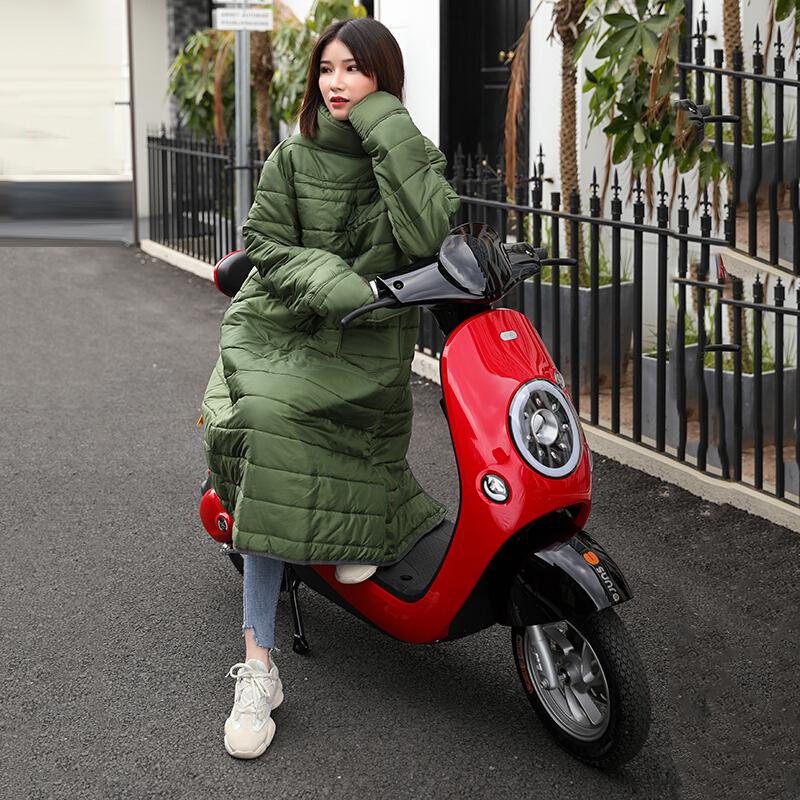 一衣两穿 电动车挡风被冬季保暖电动车电瓶车挡风罩加大加厚连体摩托车