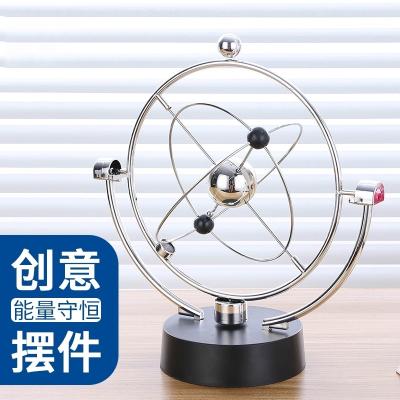 牛顿摆球磁悬浮永动仪机混沌物理摆件家居办公桌面工艺品创意礼物 大号银河系-混沌摆+4颗5号电池