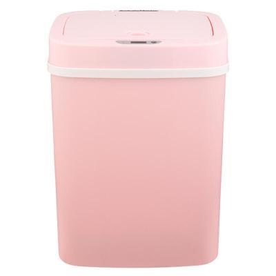 智能感应垃圾桶厨房酒店卧室垃圾桶纳仕达简约收纳桶 12升米白 DZT-12-5S米白色粉色任选充电款