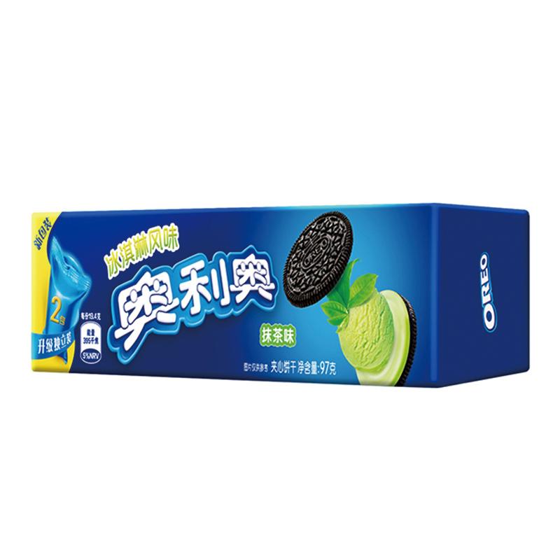 临期特卖:Oreo 奥利奥 抹茶味 夹心饼干 97g    低至2.4元