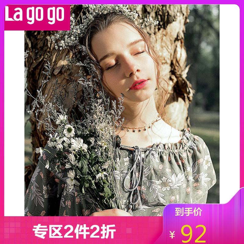 La·go·go 拉谷谷 女士雪纺连衣裙 *2件