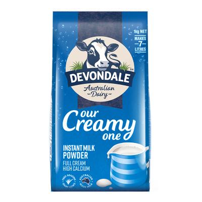 49元 德运Devondale全脂高钙速溶奶粉1KG *2