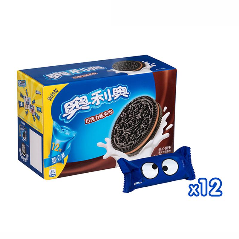 闭眼买:奥利奥 夹心饼干 巧克力味 696g*2盒