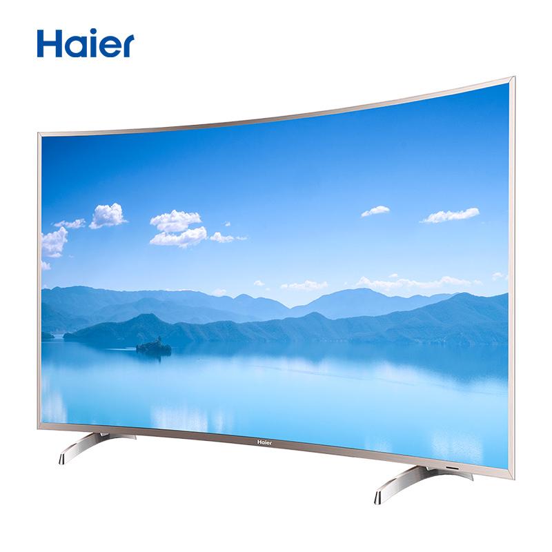 限地区 Haier 海尔 LQ65S31N 65英寸 4K 曲面液晶电视 3999元包邮 需定金 苏宁易购优惠