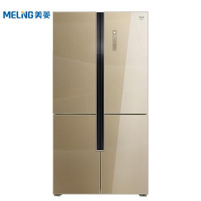 美菱(MELING) BCD-660WUP9BA 660升M鲜生 十字门冰箱 变频风冷 底部散热 玫瑰保鲜33天 流沙金