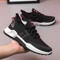 飞织透气休闲潮鞋2021新款男士运动鞋学生系带跑步鞋潮流男鞋春季