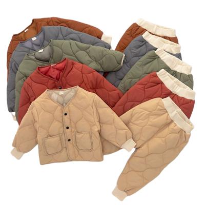 TAOERJ 儿童加厚保暖棉衣两件套