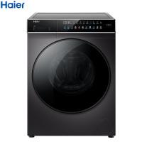 海尔(Haier)10公斤 滚筒洗衣机 直驱变频 晶彩大屏 触控屏 智能投放 玉墨银 EG100BDC189SU1