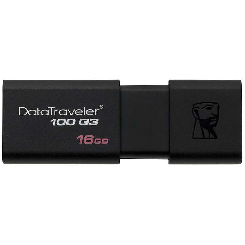金士顿(Kingston)DT100G3 16GB USB3.0 U盘(黑色)