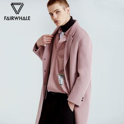 89元 MARK FAIRWHALE 马克华菲 男士纯色羊毛大衣