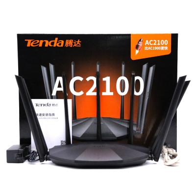 Tenda腾达AC23家用中继无线WiFi穿墙王高速路由器大户型大功率ipv6智能2100M宿舍无限漏油光纤全千兆端口版双频5g移动电信联通宽带光纤