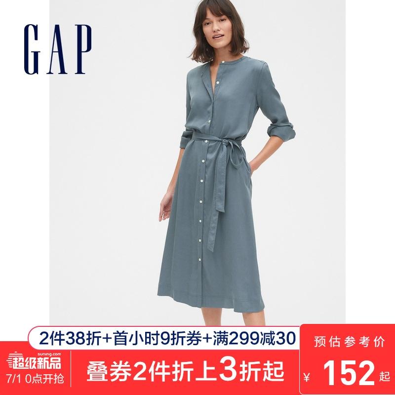 1日0点: Gap 541606 女士衬衫式连衣裙