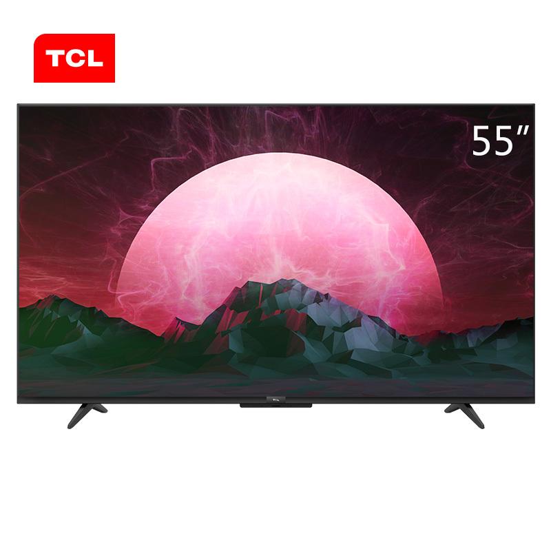 TCL 55英寸液晶平板电视机 55V6 4k超高清 超薄 全面屏 人工智能 智慧屏 玩转语音操控 教育电视 2599元