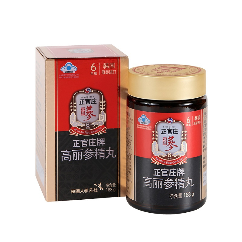 正官庄(Korean Red Ginseng)高丽参精丸168g/瓶 210mg*800粒 人参蜜丸 滋补礼品