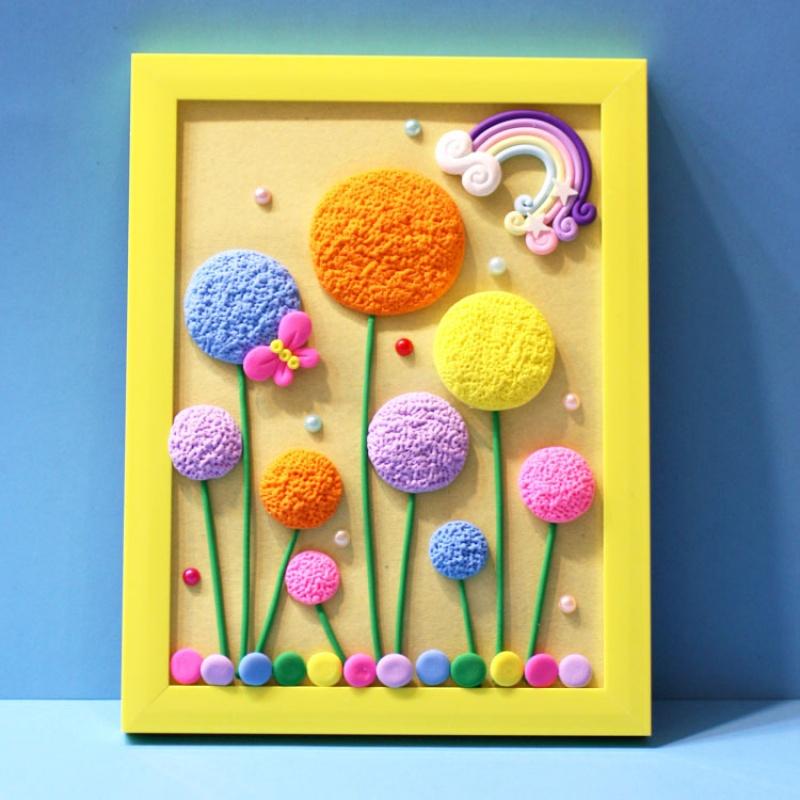 儿童DIY超轻粘土相框画材料包亲子活动彩泥立