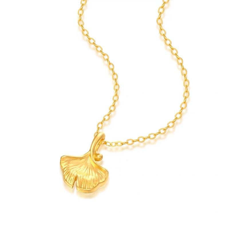 盛爵 999足金杏吊坠 赠镀金银链一条40-45cm68元包邮