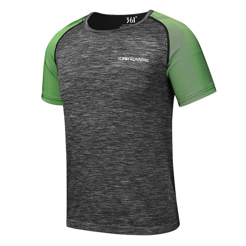 361度 361°男装短袖圆领T恤2019夏季正品运动休闲男士透气速干上衣男