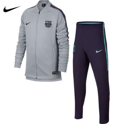 120 元包邮 耐克 894401 巴塞罗那队 儿童运动夹克+收腿裤套装