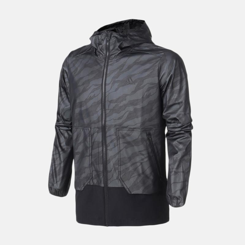 Adidas EI WB CAMO 男子寬松梭織夾克