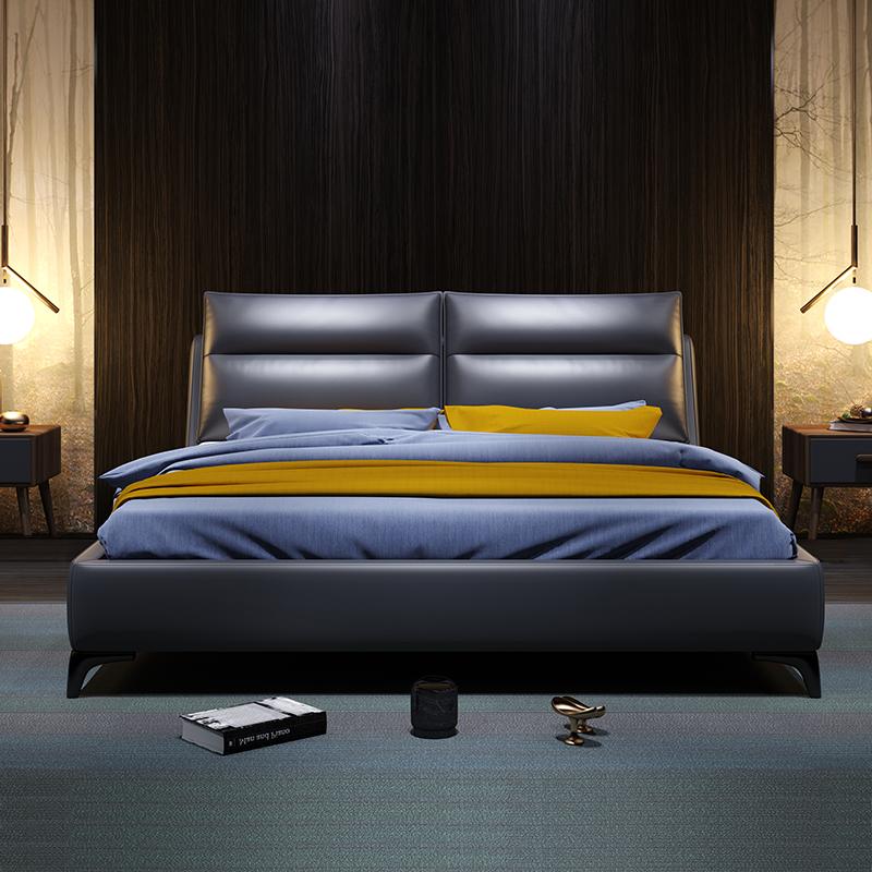 历史低价: SLEEMON 喜临门 伯尔尼 欧式真皮床 180*200cm 赠乳胶枕*2