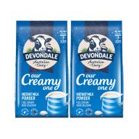 2件装 德运(Devondale) 全脂高钙成人奶粉 1KG 成人奶粉