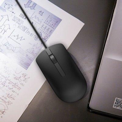 戴尔(DELL)MS116 有线鼠标 商务办公鼠标带鼠标垫(黑色)(适用于联想,华为,惠普,小米等品牌笔记本台式机)