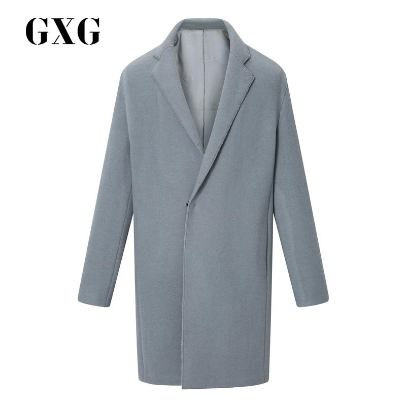 gxg呢大衣_(GXG)男士大衣 GXG男装 冬季热卖蓝色长款羊毛呢大衣外套男#174126421 ...