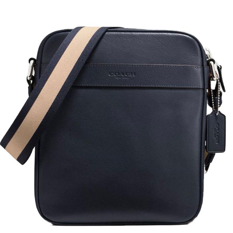 双12预售:COACH蔻驰 男士竖款时尚真皮单肩斜挎包F71723