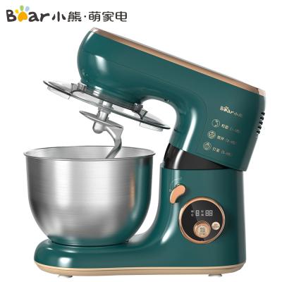 小熊(Bear)厨师机 SJJ-B10W5家用多功能智能搅拌机料理机全自动揉面机和面机打蛋器5L绿色