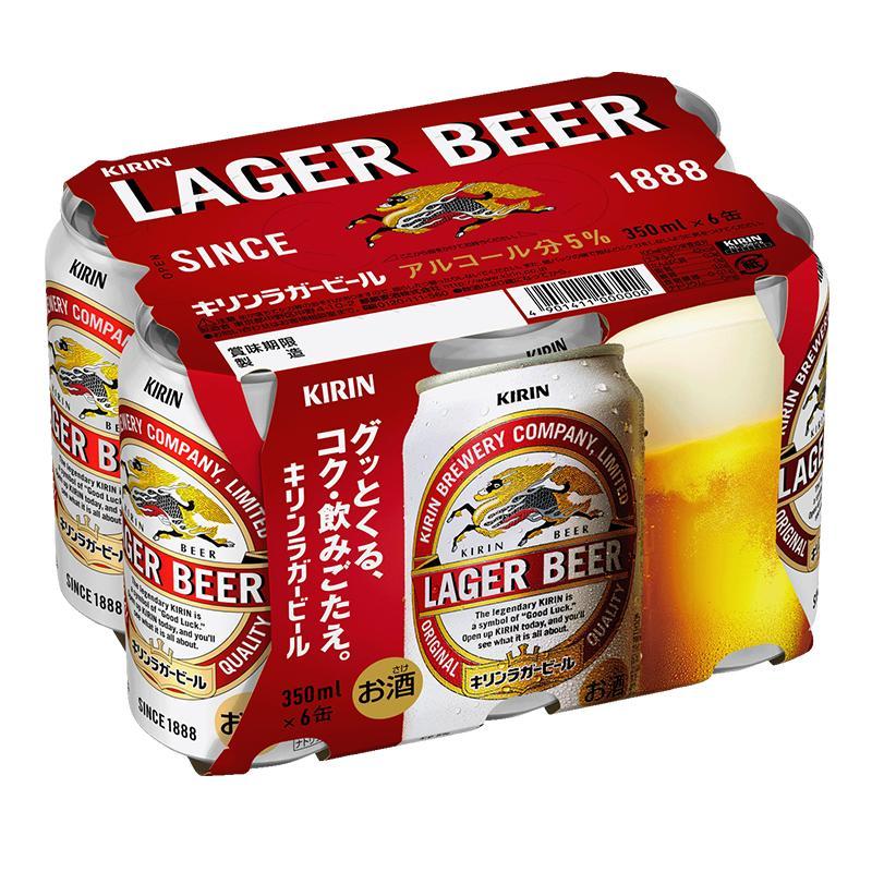 麒麟拉格啤酒 350mL 6罐裝