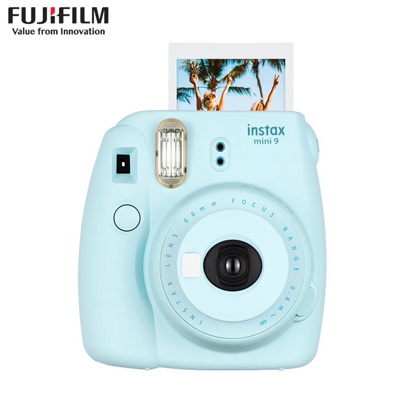 富士(FUJIFILM)INSTAX 拍立得 相机 一次成像 胶片相机 mini9 冰霜蓝色 富士小尺寸相机