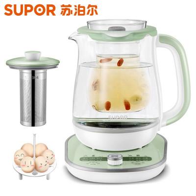 苏泊尔(SUPOR) 养生壶 1.5L大容量加厚玻璃多功能全自动煎药壶 电煮茶壶 电热水壶 烧开水壶 绿色