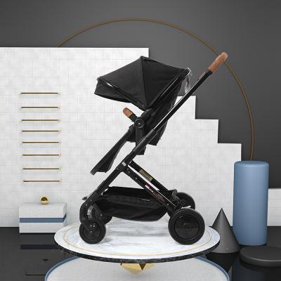 elittile高景观婴儿推车 可坐可躺轻便折叠便携推车双向儿童手推车 swan3升级款(座舱+睡篮)